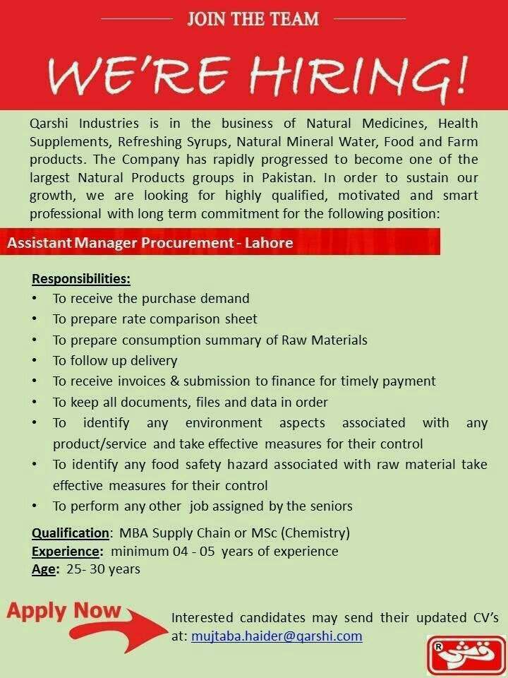 Job in Qureshi Industries!