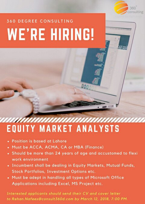 Equity Market Analysts (360 Degree Consulting)!