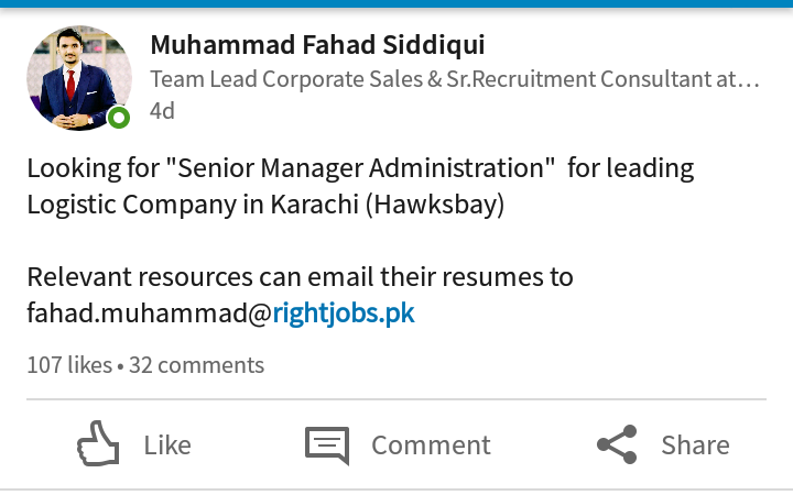Job for Manager Administration!