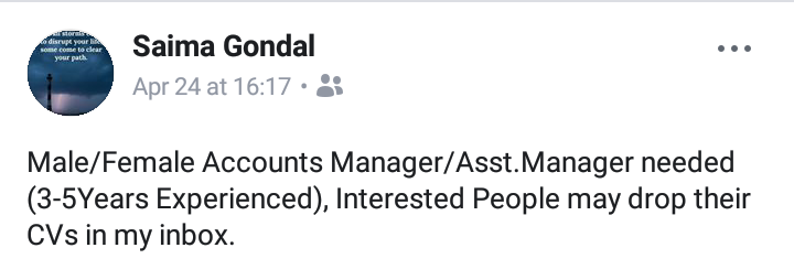 Account Manager Job!